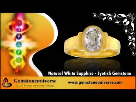 White Sapphire Gemstone Astrology Ring
