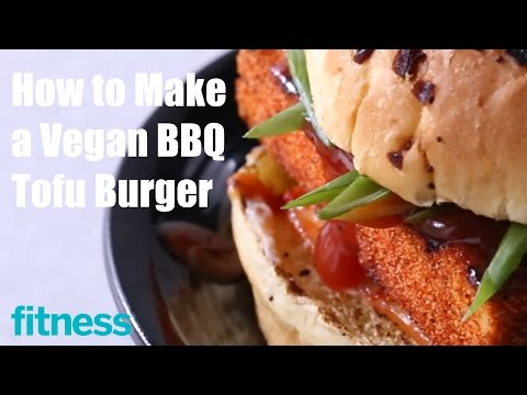 How to Make a Vegan BBQ Tofu Burger | Fitness