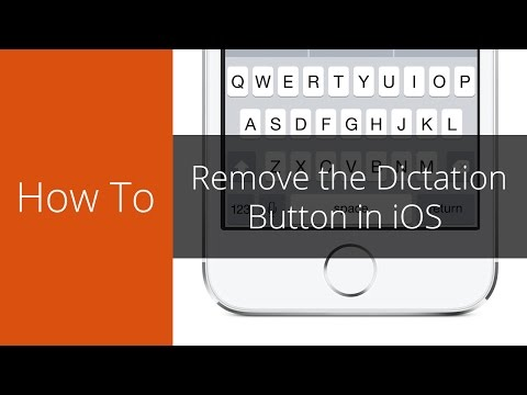 How to remove the microphone button from the keyboard in iOS
