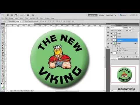 photoshop techniques: create a button badge