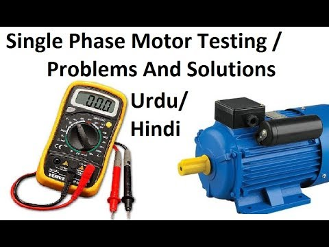 How to Test Single Phase Motor Windings, Capacitor, Problems with Multimeter (Urdu/Hindi)