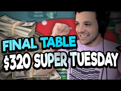 $13,500 TO WIN IN THE BIGGEST TOURNAMENT OF MY WEEK! ($320 SUPER TUESDAY)