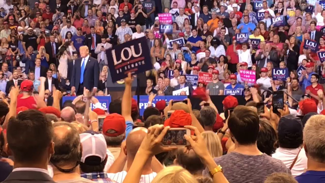 Scenes from inside the Trump rally, Wilkes-Barre, Pa.
