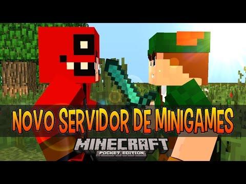 Novo Server De Mini Games Para Minecraft PE 0.11.0