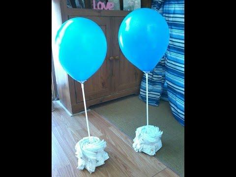 DIY: Diaper Balloon Table Decor