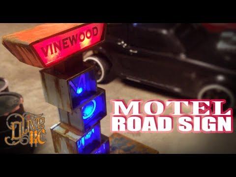 RC MOTEL ROAD SIGN (Build)