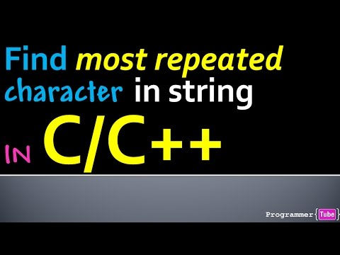 How to find the most repeated character in a string in C/C++