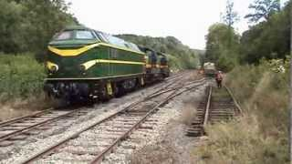 TSP PFT Cockerill diesellocs op lijn 128. 17 augustus 2013