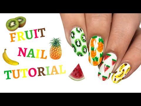 SUMMER Fruit Themed Nail Tutorial!!