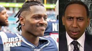 Stephen A. is confused by Antonio Brown's message to the Patriots | First Take