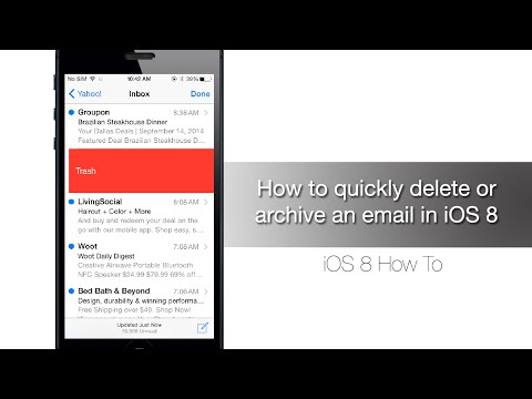 How to quickly delete or archive an email in iOS 8 - iPhone Hacks