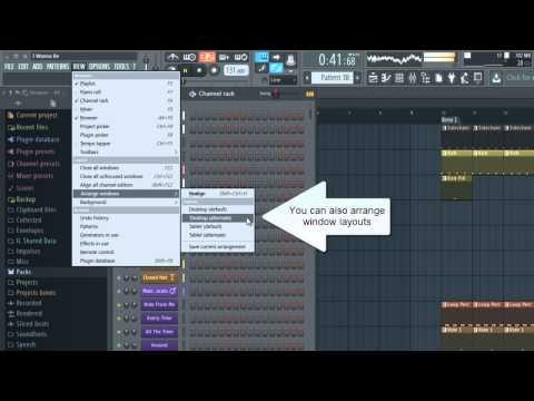 FL Studio 12 How to use Dual Monitor screen and Detach windows