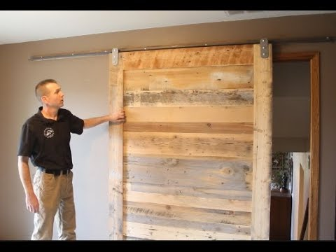 Installation of Low Profile V Track - Lowest Clearance Barn Door Hardware