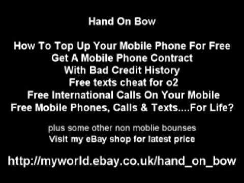Free moblie top up International calls texts cheats