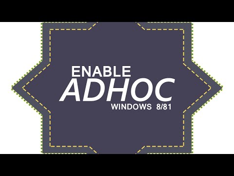 SHARE INTERNET | Enable Ad Hoc Network(Hotspot) on Windows 8/Windows 8.1/Windows 10 Quickly