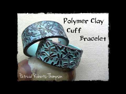 Polymer Clay Cuff Bracelet