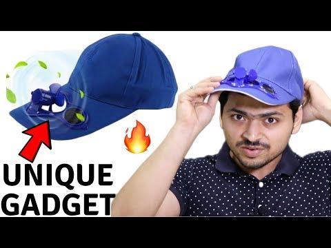 Solar Powered Fan Cap | Hat | Unique Gadget | Summer Special |  Tech Unboxing 🔥
