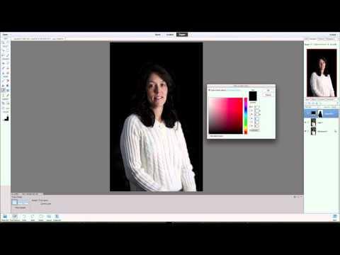 Photoshop Elements 11 Color Adjustment Layer Change Background