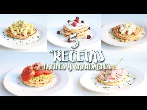 Ideas recetas SALUDABLES: blinis FÁCILES - Easy healthy recipes & ideas  | 2BeFIT