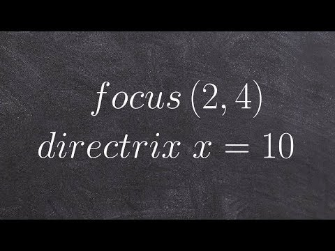 Learn how to write the standard form of a parabola given the focus and directrix