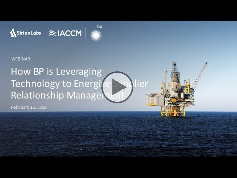 How BP is Leveraging Technology to Energize Supplier Relationship Management