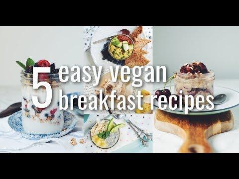 5 EASY VEGAN BREAKFAST RECIPES (5 DAYS 5 WAYS MEAL PREP) | hot for food