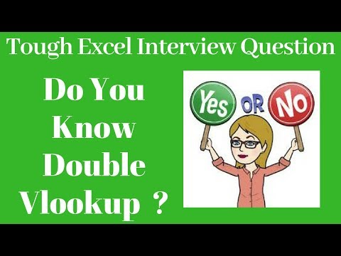 Double Vlookup In Excel | Number or Text
