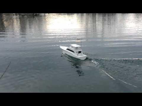 Dumas Donzi Z-65 RC boat.