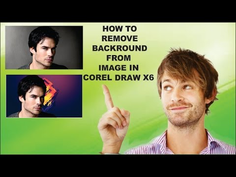 how to remove background from image in corel draw x6
