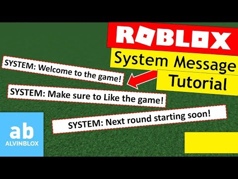 Roblox System Message Tutorial - Server Chat Message - READ DESC