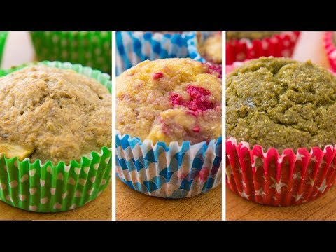 3 Healthy Muffins For Breakfast | Easy Muffin Recipe