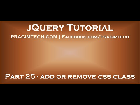 jQuery add or remove class