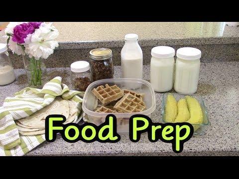 Food Prep May 2018 (Almond Milk, Waffles, Granola, Tortillas)