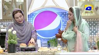 Geo Ramzan Iftar Transmission - Desi Burger Recipe by Naheed Ansari - 13 May 2019 - Ehsaas Ramzan