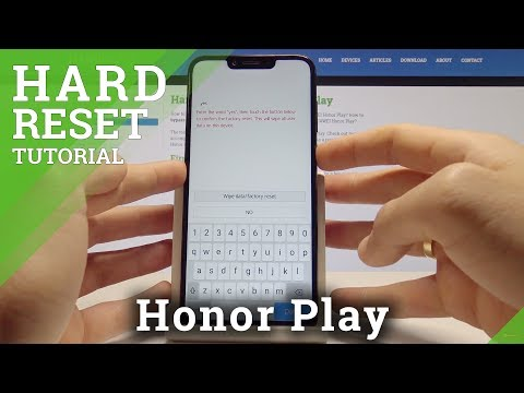 How to Hard Reset Honor Play - Bypass Screen Lock Solution / Wipe Data