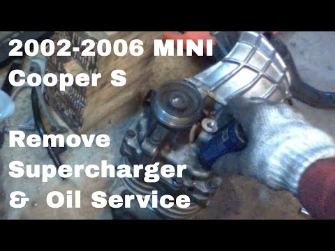 MINI Cooper S Supercharger Removal & Oil Service R53 Eaton M45