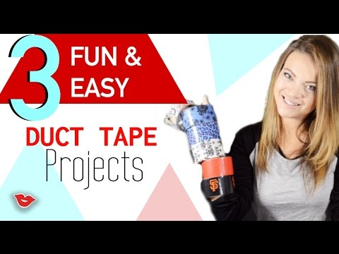 DIY Fun and Easy Duct Tape Projects!! | Tay from Millennial Moms