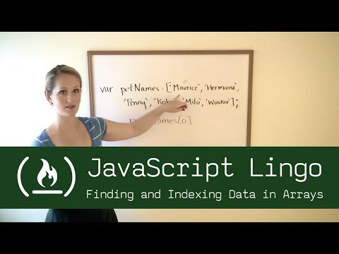 JavaScript Lingo: Finding and Indexing Data in Arrays