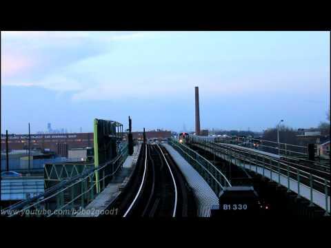 IND Subway: Manhattan and Coney Island Bound R160 (F) train at Neptune Avenue