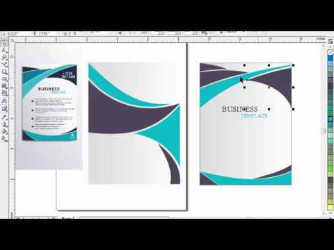 Brochure Design with Coreldraw 11 tutorial in urdu part 2