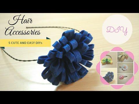 5 Cute and Easy DIY Hair Accessories!