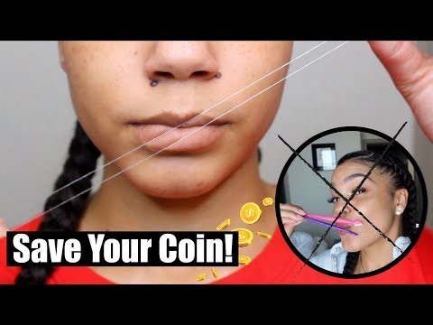 DIY Upper Lip Threading at HOME in Under 5 Minutes