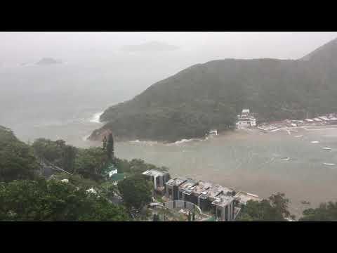 Typhoon Signal 10 at Deep Water Bay