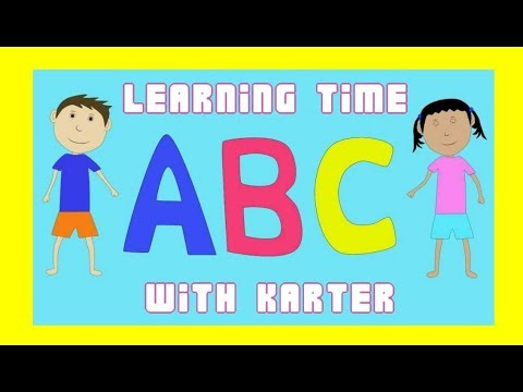 Teaching My Child How To Write The Alphabet- Karter Learns The Letter 'A'