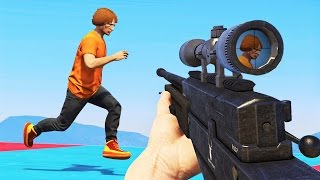 SNIPERS vs. SUPER RUNNERS! (GTA 5 Funny Moments)