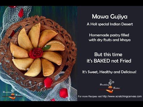 How to make Baked Mawa Gujiya, Baked Karanji | Dessert Empanadas | Holi Recipes