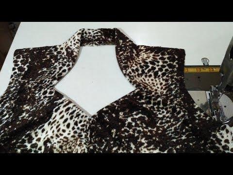 Halter Neck/High Neck Collor kurti cutting & stitching