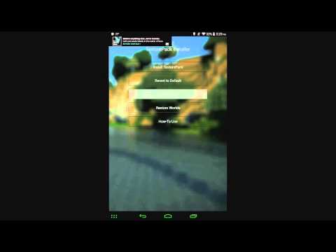 How To Install TexturePacks on Minecraft Pocket Edition 0.11.x on Android! (Without Blocklauncher!)