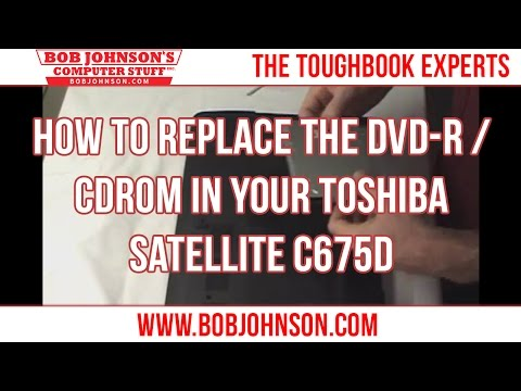 How to replace the DVD-R / CDROM in your Toshiba Satellite C675D