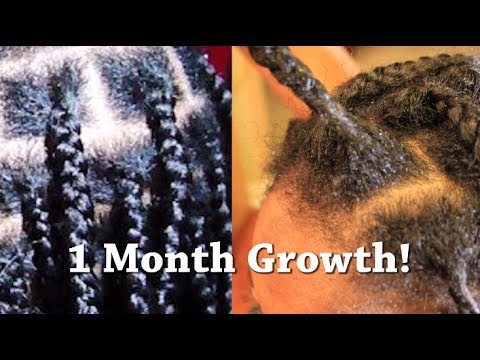 Update 2014 One Month New Growth, No Knots Healthy  Box Braids